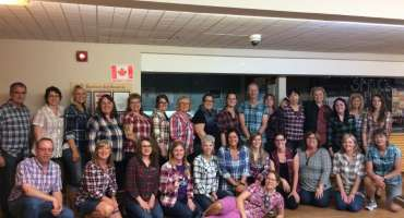Staff Dressed in Plaid